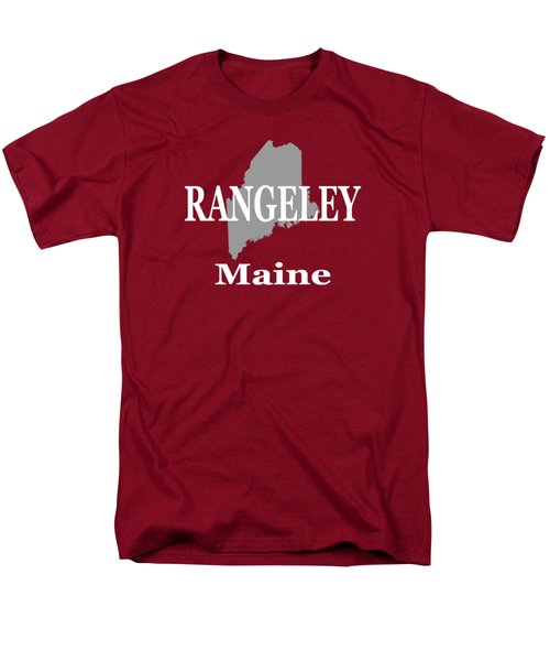 Rangeley Maine State City And Town Pride  Men's T-Shirt  (Regular Fit) by Keith Webber Jr