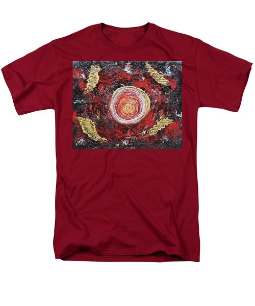 Raw Harmony Red And Gold Art Men's T-Shirt  (Regular Fit)