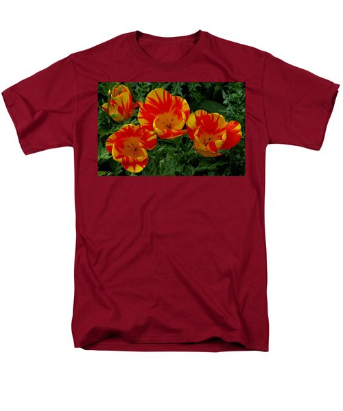 Red And Yellow Flower Men's T-Shirt  (Regular Fit) by John Topman