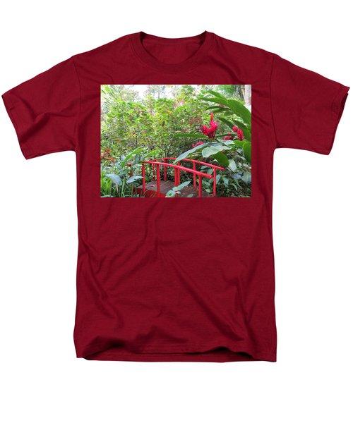 Red Bridge Men's T-Shirt  (Regular Fit) by Teresa Wing