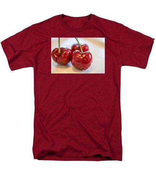 Red Cherries Men's T-Shirt  (Regular Fit) by Sabine Edrissi