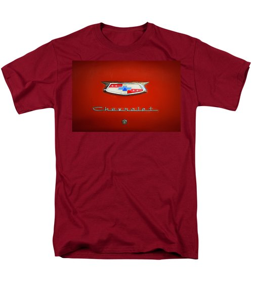 Men's T-Shirt  (Regular Fit) featuring the photograph Red Chevy Bel-air Trunk by Marilyn Hunt