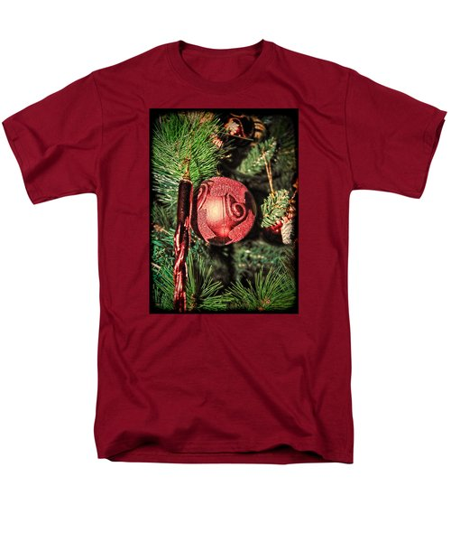 Red Christmas Ornament Men's T-Shirt  (Regular Fit) by Isam Awad