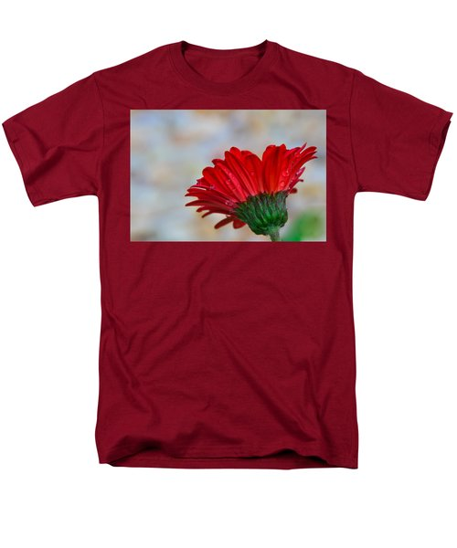 Men's T-Shirt  (Regular Fit) featuring the photograph Red Daisy  by John Harding