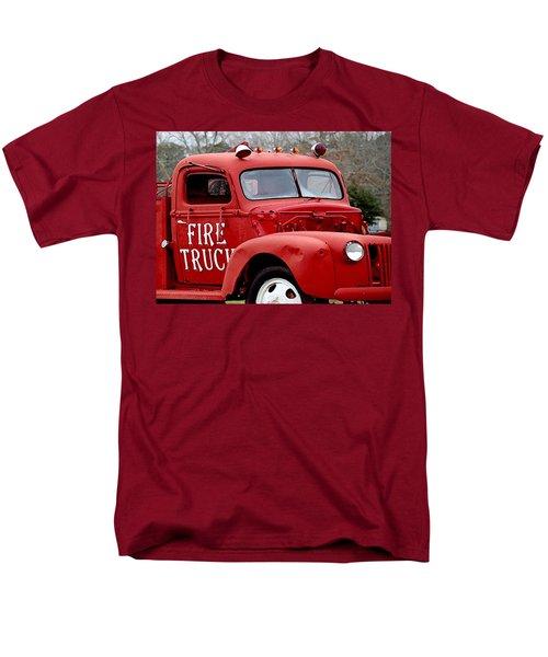 Red Fire Truck Men's T-Shirt  (Regular Fit) by Michael Thomas