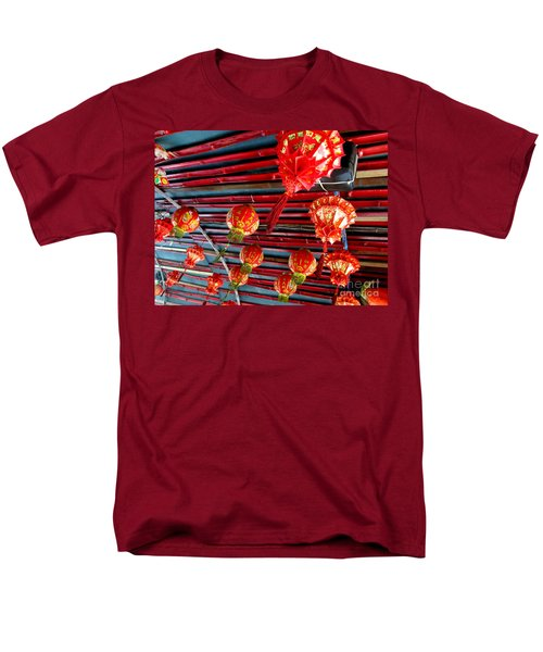Men's T-Shirt  (Regular Fit) featuring the photograph Red Lanterns 3 by Randall Weidner