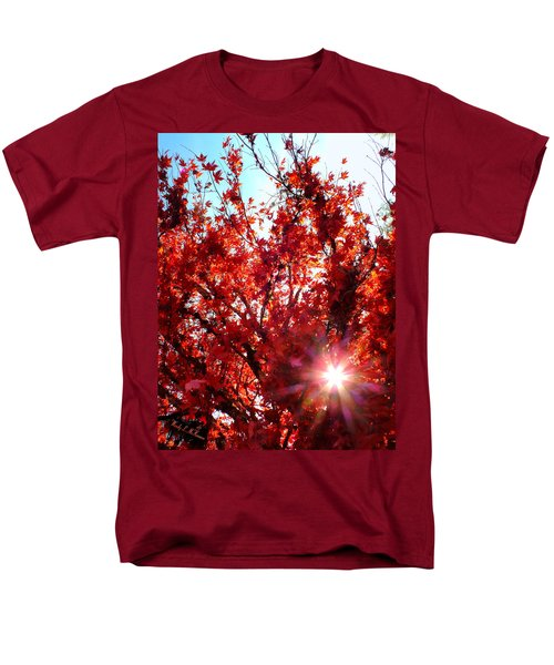 Men's T-Shirt  (Regular Fit) featuring the photograph Red Maple Burst by Wendy McKennon