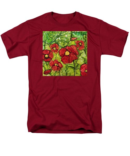 Men's T-Shirt  (Regular Fit) featuring the painting Red Poppies by Suzanne Canner