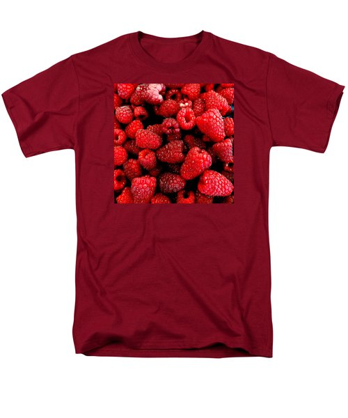 Men's T-Shirt  (Regular Fit) featuring the photograph Red Raspberries by Nick Kloepping