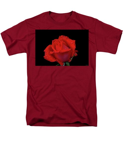 Men's T-Shirt  (Regular Fit) featuring the photograph Red Rose 013 by George Bostian