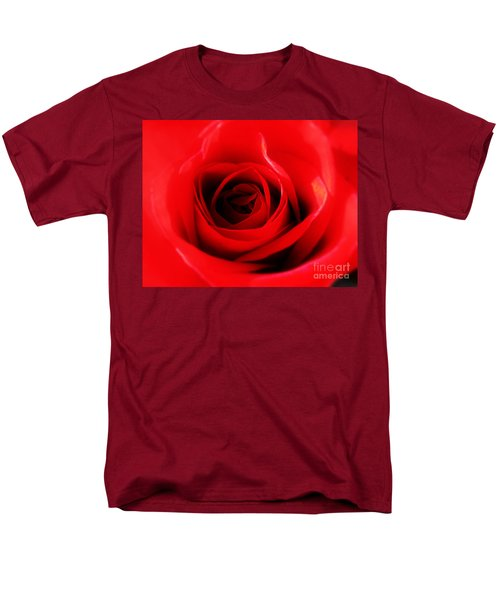 Men's T-Shirt  (Regular Fit) featuring the photograph Red Rose by Nina Ficur Feenan