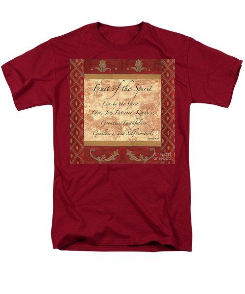 Red Traditional Fruit Of The Spirit Men's T-Shirt  (Regular Fit)