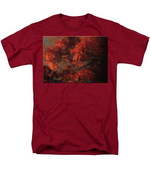 Red Tree Scene Men's T-Shirt  (Regular Fit) by Mikki Cucuzzo