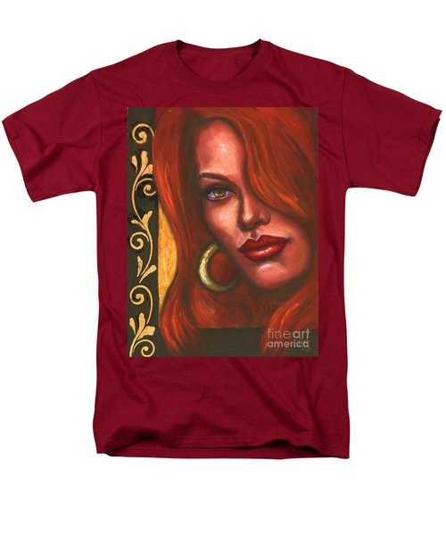 Men's T-Shirt  (Regular Fit) featuring the painting Redhead by Alga Washington