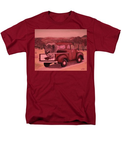 Ridin' With Razorbacks 3 Men's T-Shirt  (Regular Fit) by Belinda Nagy