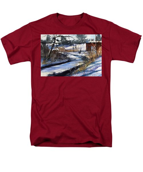 Rippleton Road River Men's T-Shirt  (Regular Fit) by Judith Levins