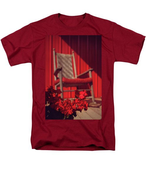 Men's T-Shirt  (Regular Fit) featuring the photograph Rockin' Red by Jessica Brawley
