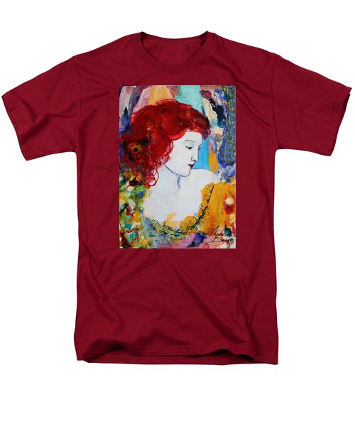 Romantic Read Heaired Woman Men's T-Shirt  (Regular Fit)