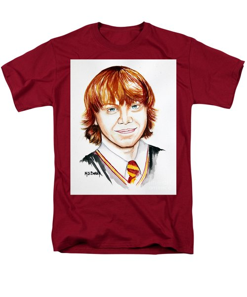 Men's T-Shirt  (Regular Fit) featuring the painting Ron Weasley by Maria Barry