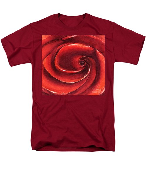 Men's T-Shirt  (Regular Fit) featuring the painting Rose In Stone by Allison Ashton