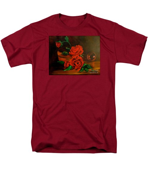 Men's T-Shirt  (Regular Fit) featuring the painting Roses Are Red by Jenny Lee