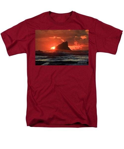 Second Beach Shark Men's T-Shirt  (Regular Fit) by Adam Jewell