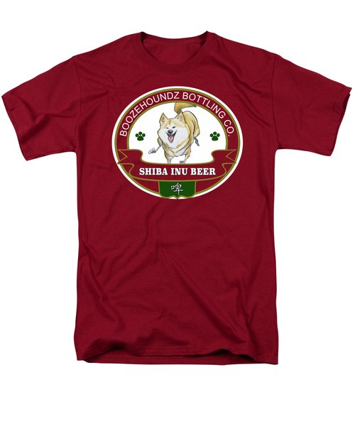 Shiba Inu Beer Men's T-Shirt  (Regular Fit) by John LaFree