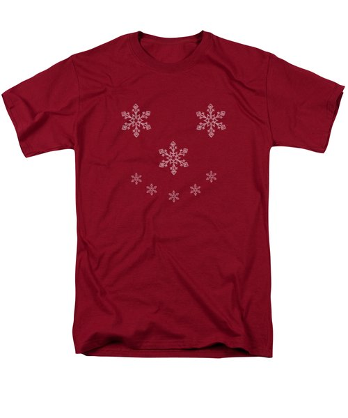 Men's T-Shirt  (Regular Fit) featuring the digital art Snowflake Smile by Linsey Williams