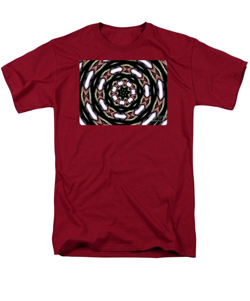 Men's T-Shirt  (Regular Fit) featuring the photograph Stained Glass Kaleidoscope 12 by Rose Santuci-Sofranko
