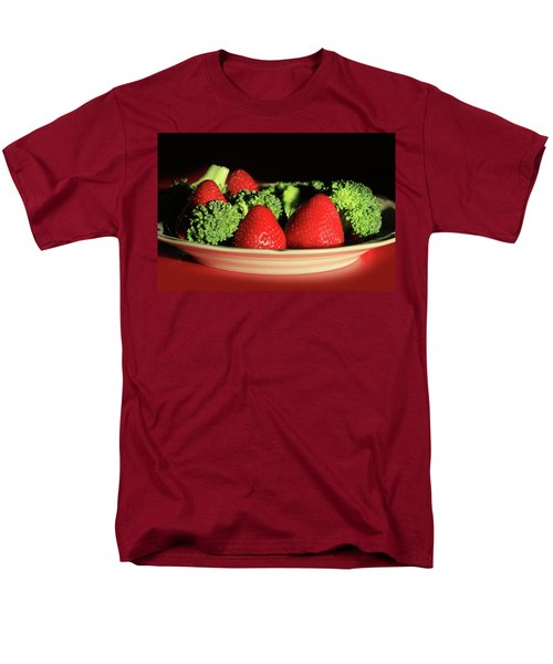 Strawberries And Broccoli Men's T-Shirt  (Regular Fit) by Lori Deiter