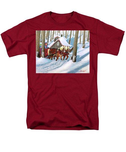 Sugar Bush Sleigh Ride Randonne En Traneau Sucre Men's T-Shirt  (Regular Fit) by Patricia L Davidson