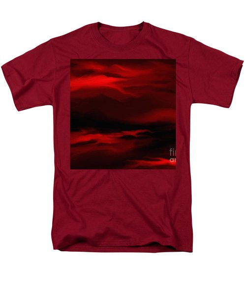 Men's T-Shirt  (Regular Fit) featuring the painting Sun Sets In Red by Rushan Ruzaick