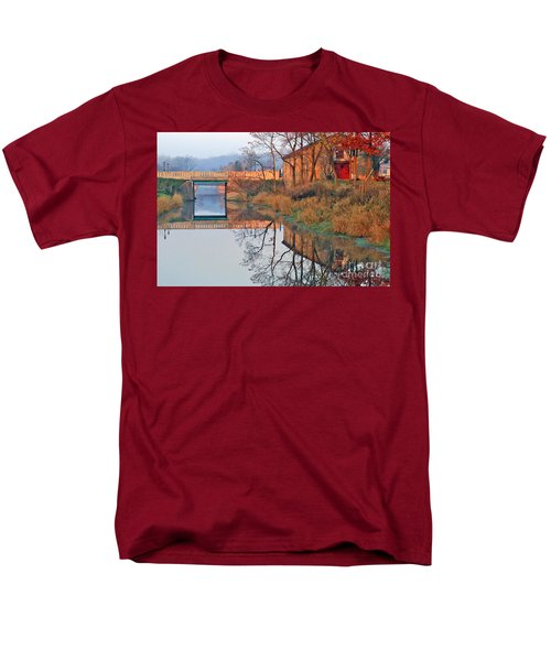 Sunrise On The I And  M Canal Men's T-Shirt  (Regular Fit) by Paula Guttilla