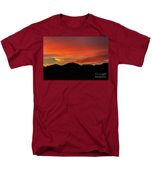 Sunrise Over Gila Mountains Men's T-Shirt  (Regular Fit) by Robert Bales