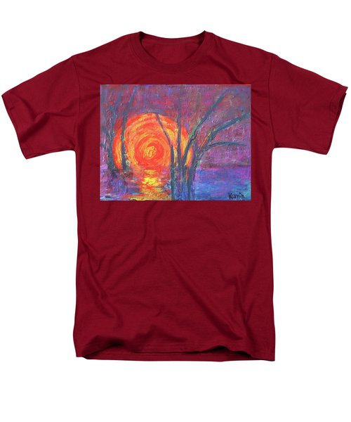 Sunset Men's T-Shirt  (Regular Fit) by Karin Eisermann