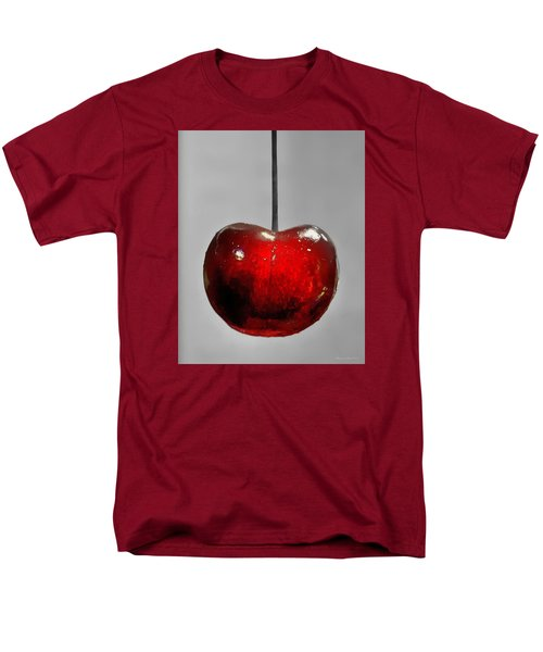 Men's T-Shirt  (Regular Fit) featuring the photograph Suspended Cherry by Suzanne Stout