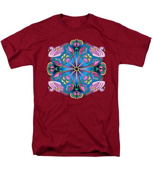 Swans Of Pink Men's T-Shirt  (Regular Fit) by Mickey Flodin