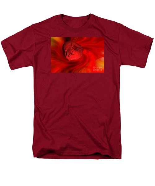 Swirling Rose Men's T-Shirt  (Regular Fit) by Geraldine DeBoer