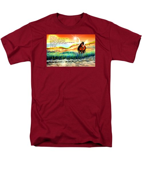 Men's T-Shirt  (Regular Fit) featuring the painting Thank You For Loving Me by Patricia L Davidson