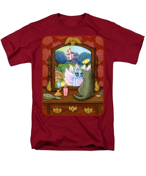 Men's T-Shirt  (Regular Fit) featuring the painting The Chimera Vanity - Fantasy World by Carrie Hawks