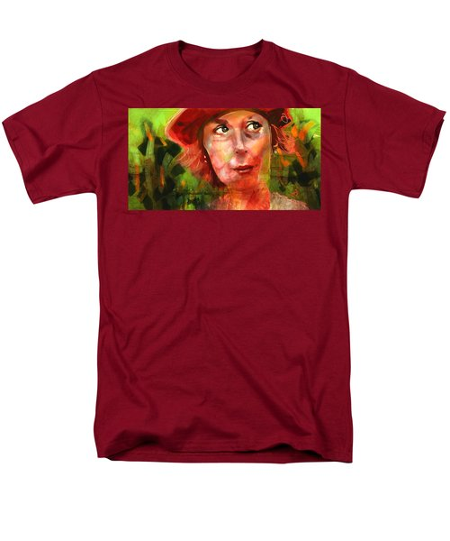 Men's T-Shirt  (Regular Fit) featuring the painting The Happy Gardener by Jim Vance