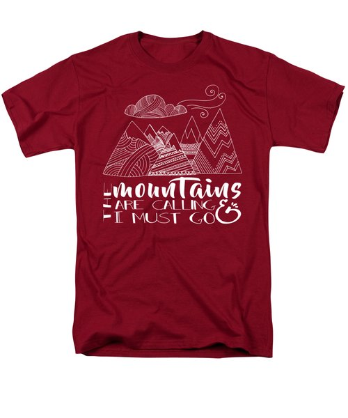 Men's T-Shirt  (Regular Fit) featuring the digital art The Mountains Are Calling by Heather Applegate