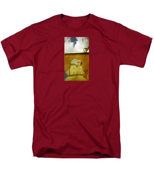 Men's T-Shirt  (Regular Fit) featuring the photograph The Red Archway by Anne Kotan
