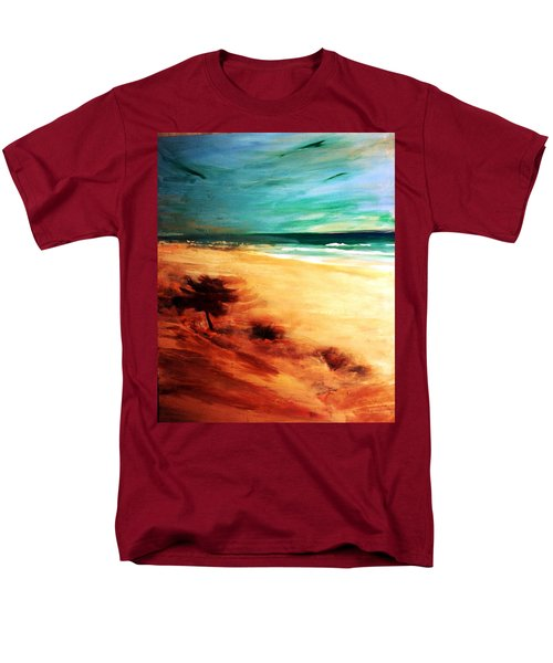 Men's T-Shirt  (Regular Fit) featuring the painting The Remaining Pine by Winsome Gunning