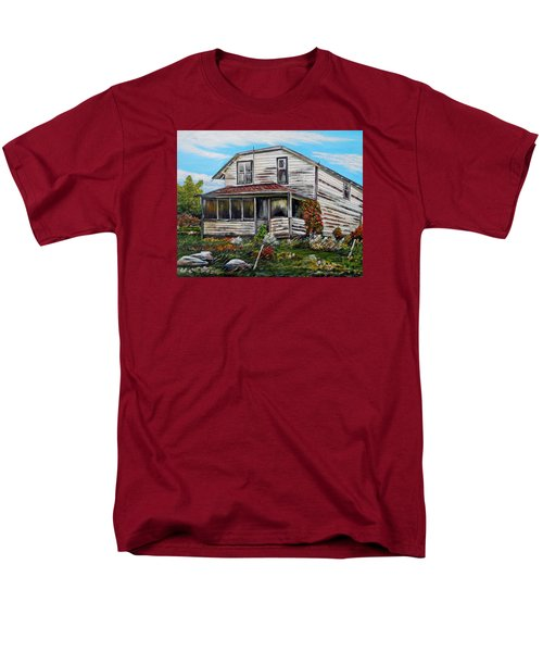 Men's T-Shirt  (Regular Fit) featuring the painting This Old House 2 by Marilyn  McNish