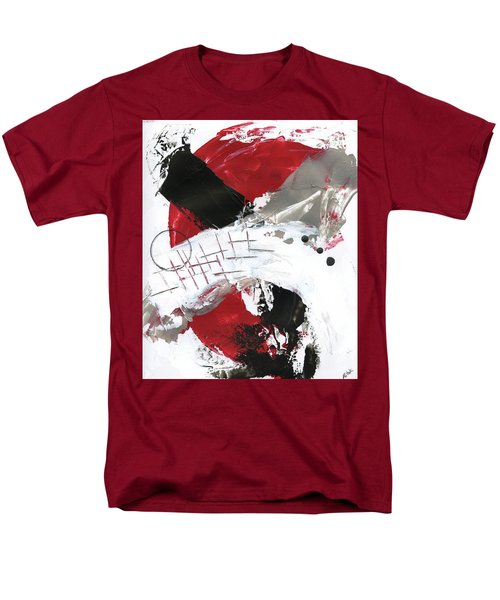 Men's T-Shirt  (Regular Fit) featuring the painting Three Color Palette Red 2 by Michal Mitak Mahgerefteh