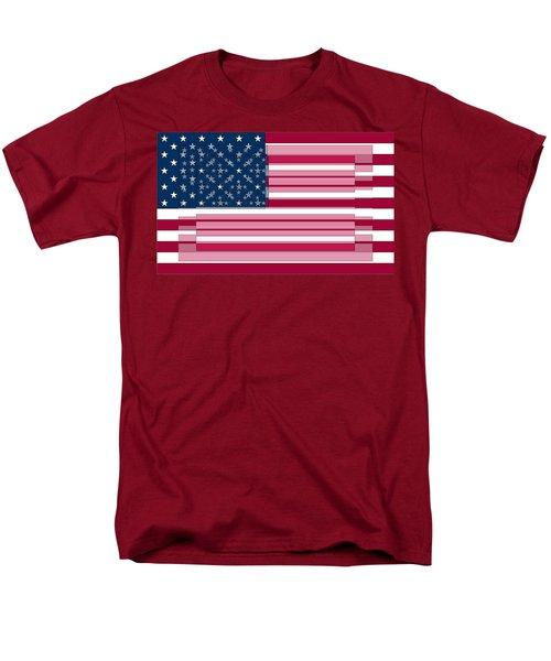Three Layered Flag Men's T-Shirt  (Regular Fit) by David Bridburg