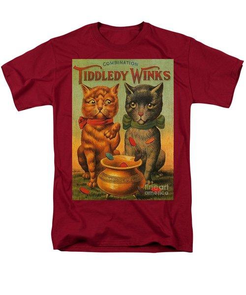 Tiddledy Winks Funny Victorian Cats Men's T-Shirt  (Regular Fit) by Peter Gumaer Ogden Collection