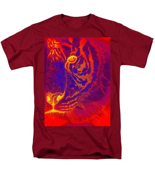 Tiger On Fire Men's T-Shirt  (Regular Fit)