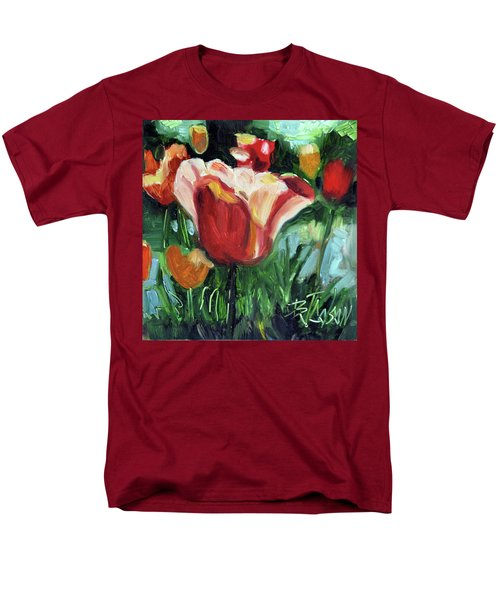 Men's T-Shirt  (Regular Fit) featuring the painting Tip Toe Thru The Tulips by Billie Colson